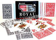 2 Jumbo Index Royal Plastic Playing Cards For Poker Cheating Games