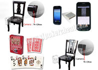 Casino Cheating Devices Wooden Poker Chair With Infrared / Laser Camera