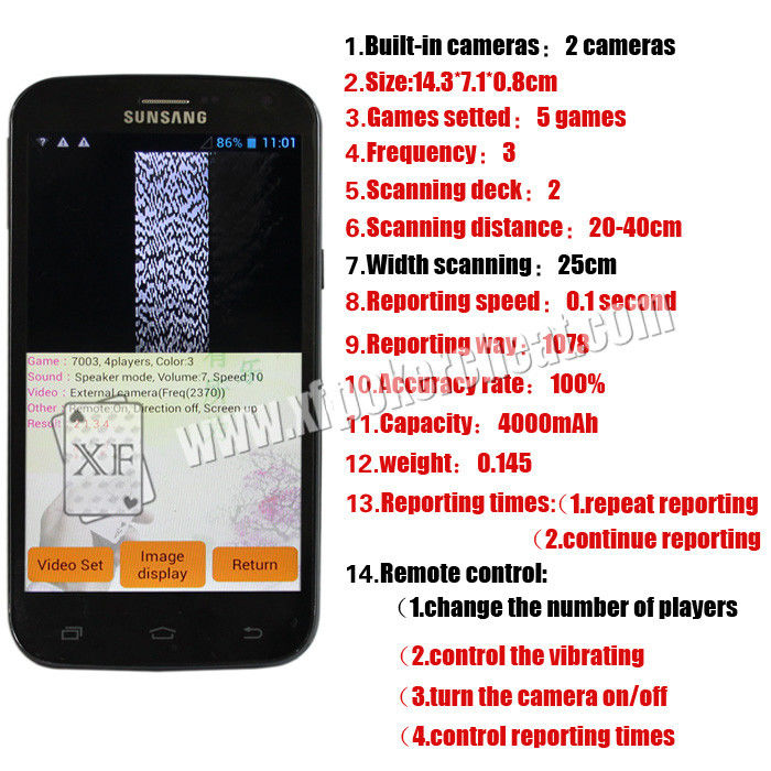 Samsung PK King 518 Poker Cheating Equipment Analyzer With Double Cameras Built Inside