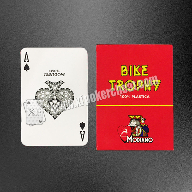 Modiano Bike Trophy Marked Playing Cards For Gamble / Magic Show