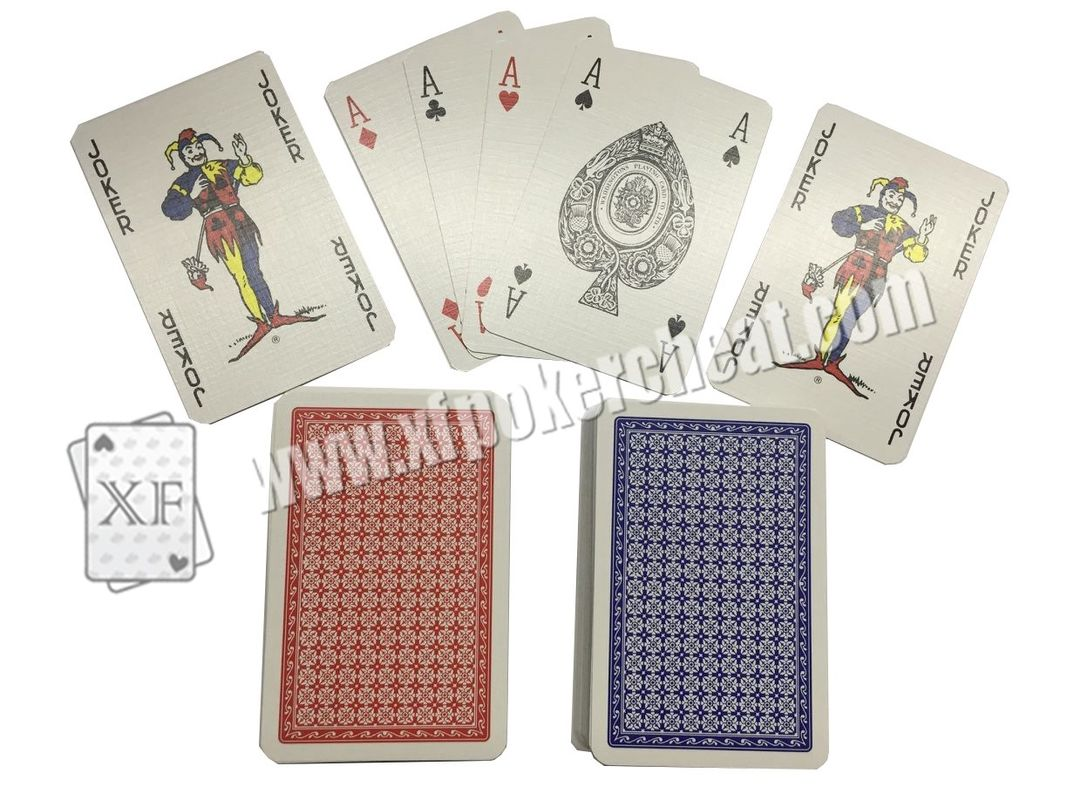 Gambling Toolment NO.1 Red / Narrow Size 4 Small Index Paper Playing Cards