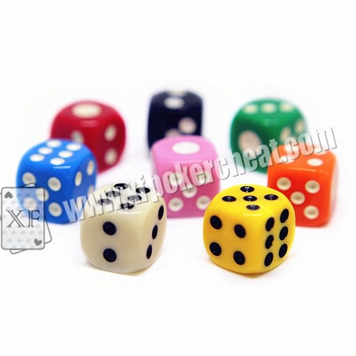 Yellow / Red Gamble Cheat Dice 14mm 2 Players With Liquid Mercury