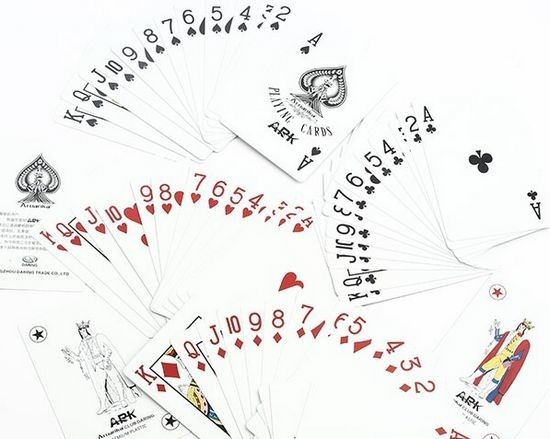 Ark Aruanka Invisible Playing Cards With Bridge Size Regular Index