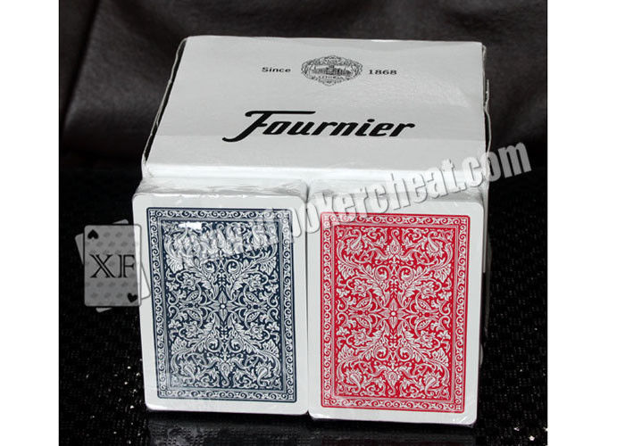 Magic Gambling Props Fournier Plastic 2818 Red Blue Jumbo Face Playing Cards