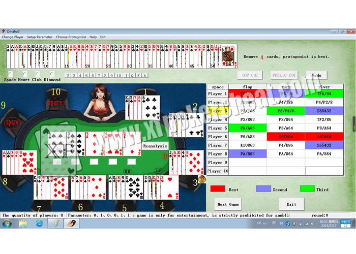 English Version Omaha 5 Cards Poker Analysis Software Cheat Device