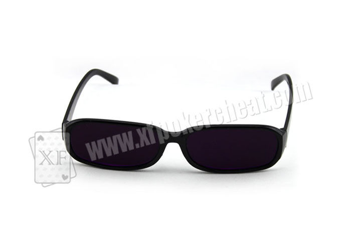 Casino Poker Cheat Plastic Purple Perspective Glasses For Magic Props